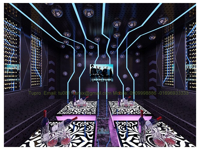 thi công thạch cao, sơn, cách âm phòng hát karaoke